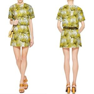 NWOT MSGM | Frond Palm Leaf Print Mini Skirt